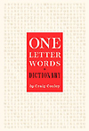 One-Letter Words Cover